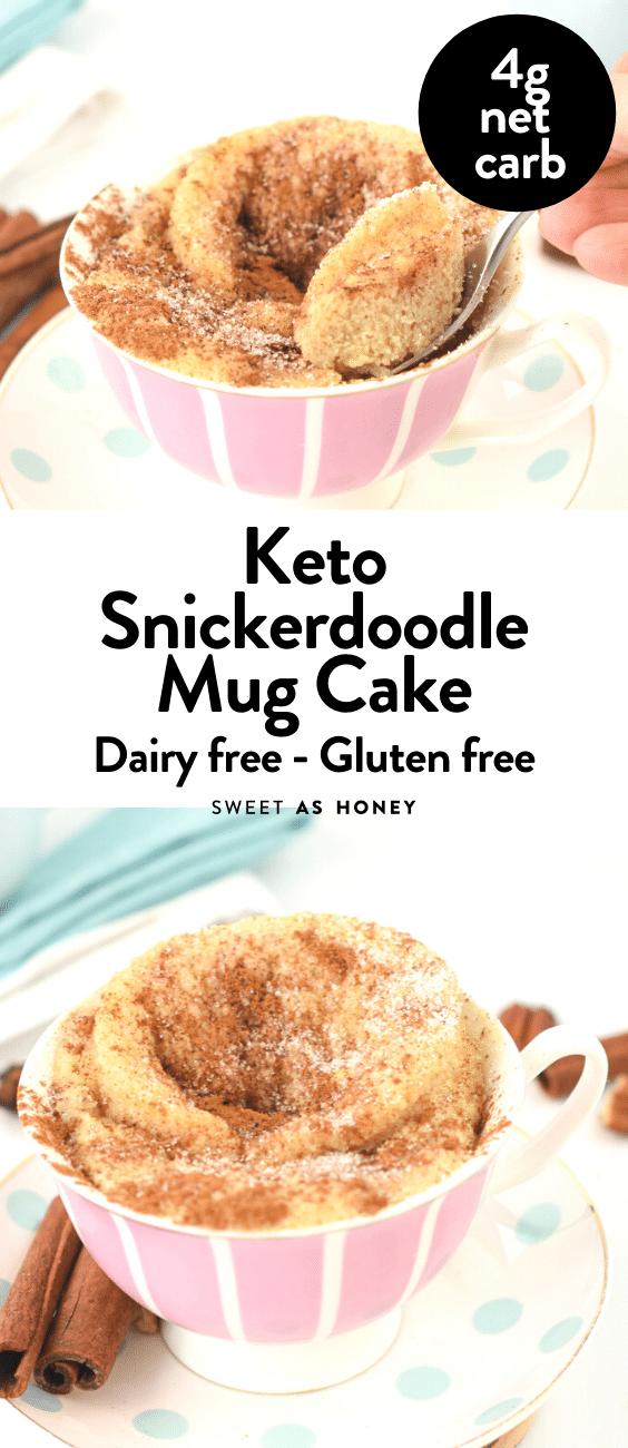 Keto Snickerdoodle Mug Cake