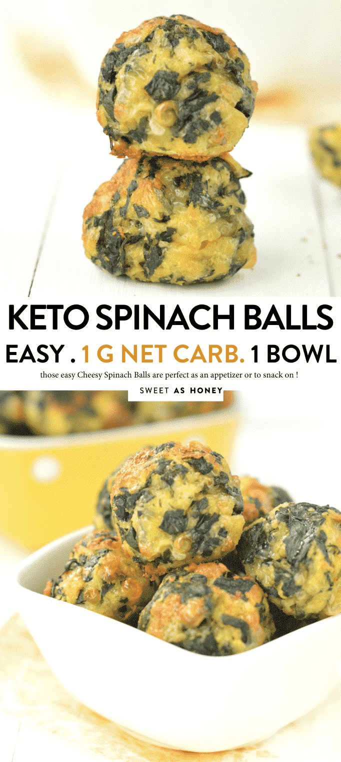 KETO SPINACH BALLS 1 g net carb per serve easy, healthy, gluten free #keto #spinach #spinachballs #glutenfree #appetizers #lowcarb #cheesy #thanksgiving #christmas #snack