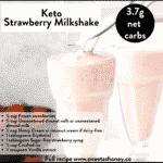 Keto Strawberry Milkshake recipe