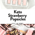 Keto Strawberry Popsicles