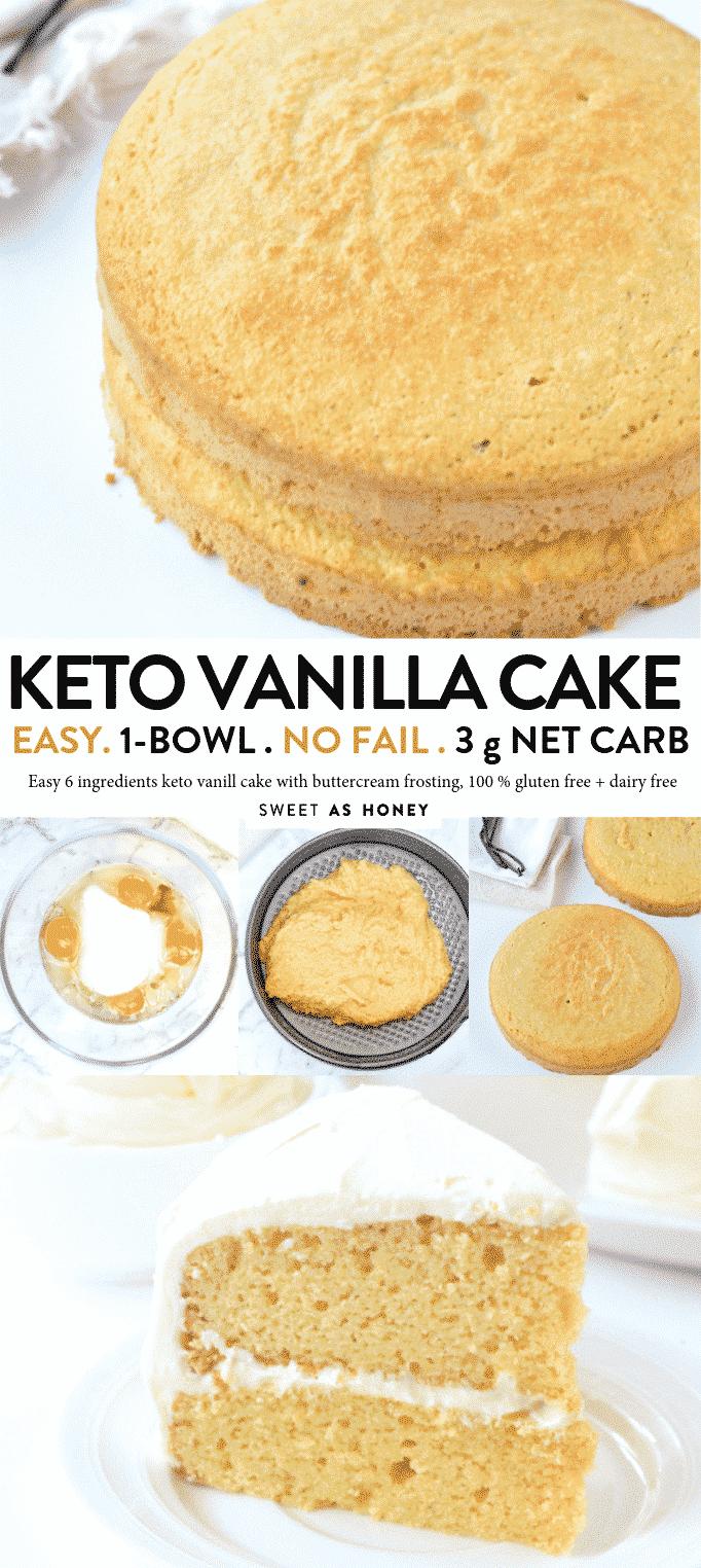 Keto Vanilla Cake Diabetic Birthday Cake Sweetashoney
