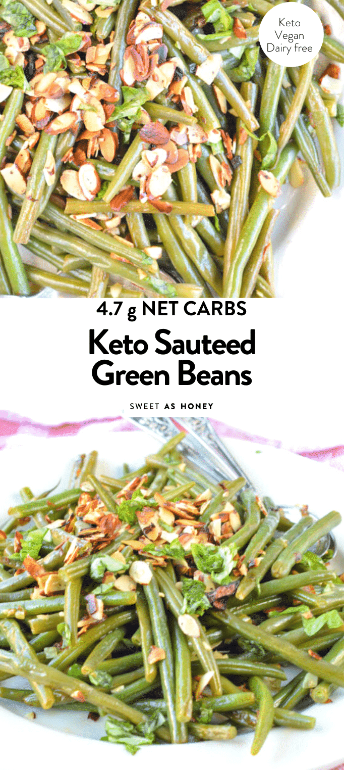 KETO VEGAN SAUTEED GREEN BEANS #keto #recipe #roasted #sauteed #vegan #easy #helthy #almonds #greenbeans