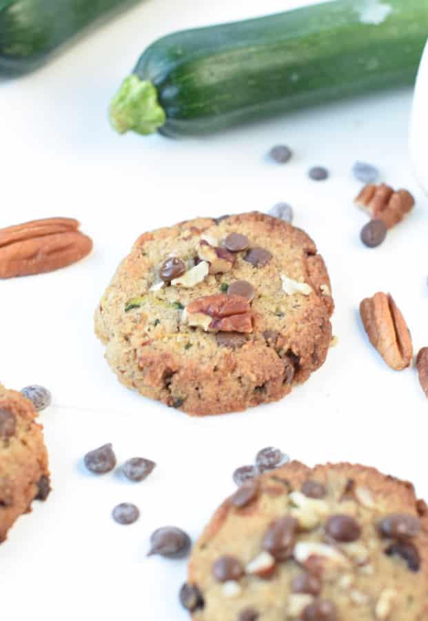 Keto Zucchini Chocolate Chip Cookies