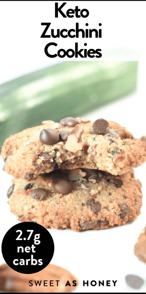 Keto Zucchini Cookies - soft + gluten free