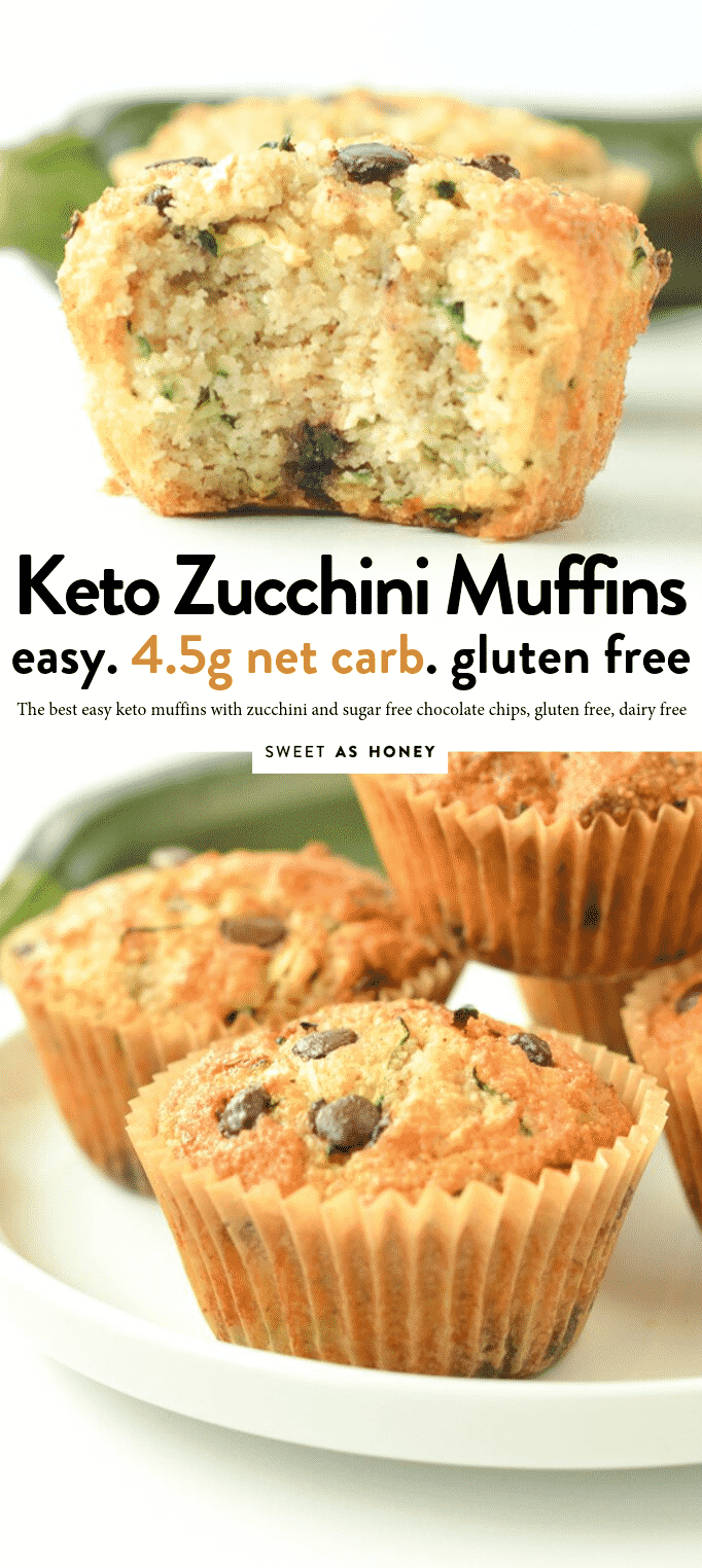 KETO ZUCCHINI MUFFINS almond flour zucchini muffins 4.5 g net carbs #keto #muffins #easy #healthy #almondflour #glutenfree #zucchini #zucchinimuffins #cupcake #lowcarb #sugarfree #chocolate #paleo #best