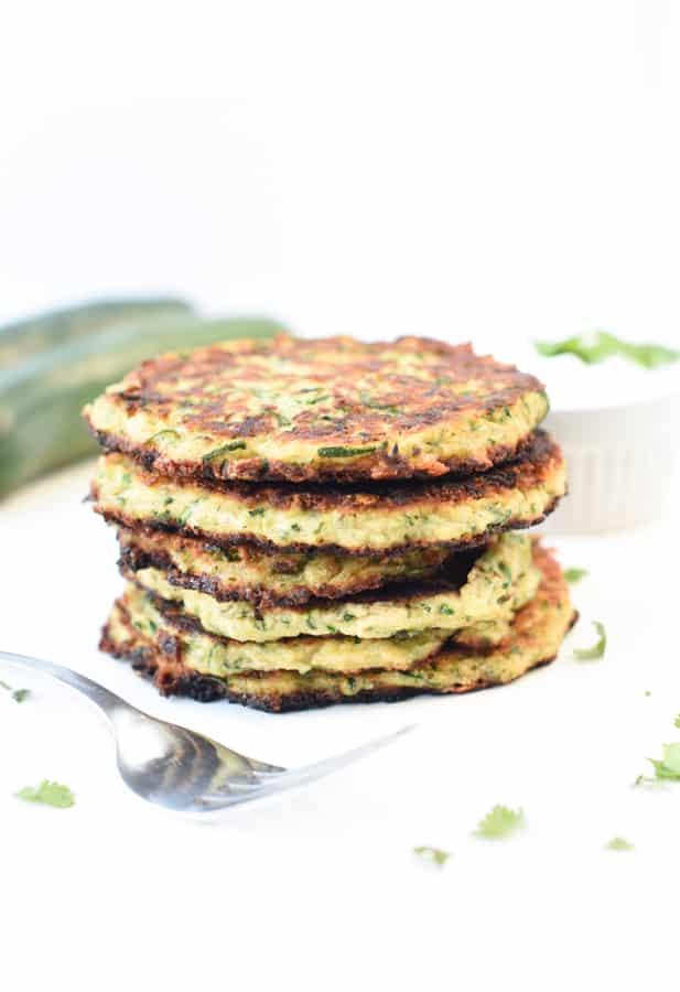 Keto Zucchini fritters Easy Healthy