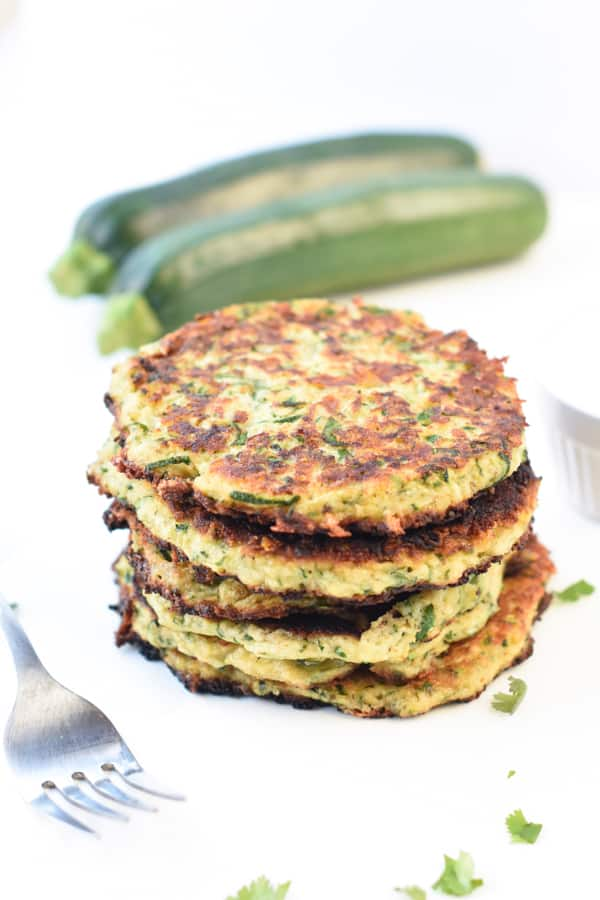 Keto Zucchini fritters with Almond Flour