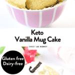 Keto almond flour mug cake