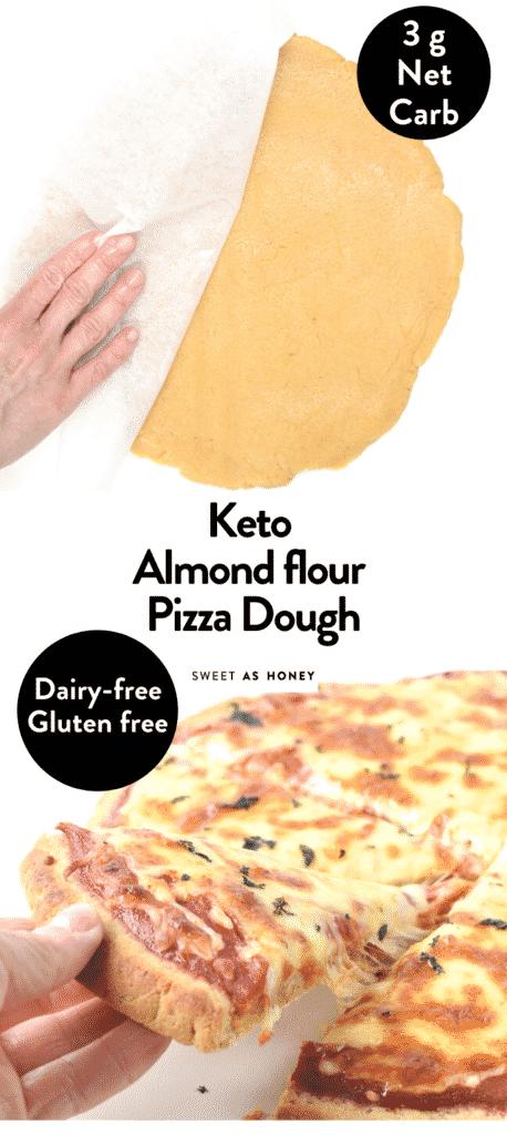 Keto almond flour pizza dough