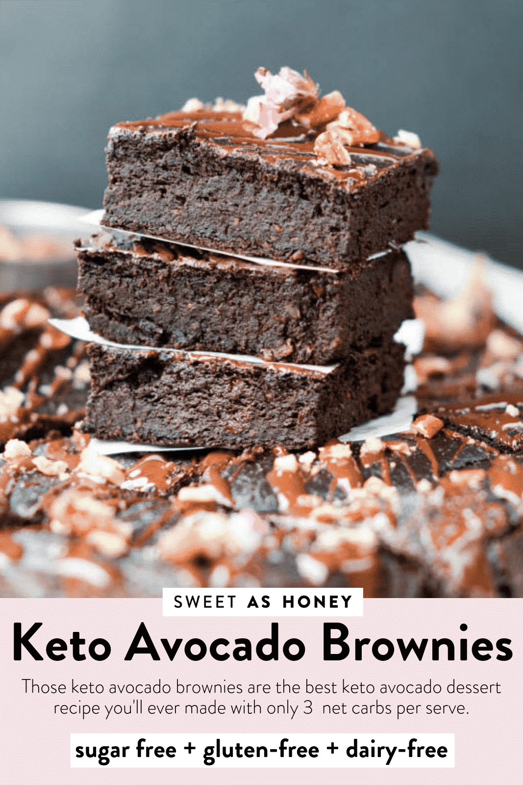 THE BEST AVOCADO BROWNIES