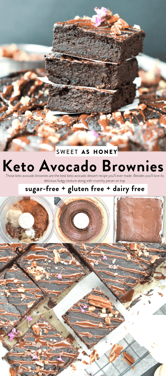 Keto avocado brownies