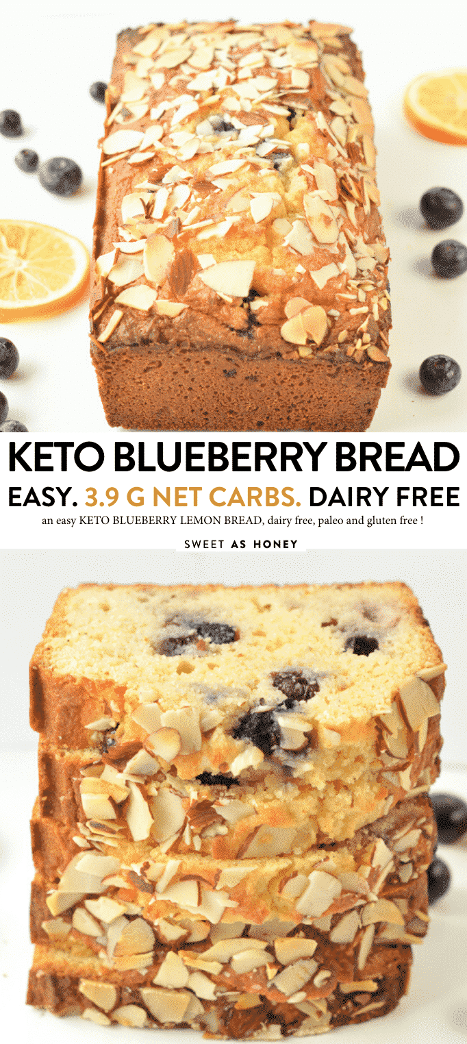 KETO BLUEBERRY BREAD with coconut flour 3.9 g net carbs #keto #ketoblueberrybread #blueberry #bread #lowcarb #glutenfree #dairyfree #easy #healthy #paleo #sugarfree #homemade #lemon #ketocake #ketobread""