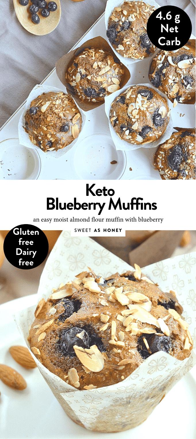 KETO BLUEBERRY MUFFINS ALMOND FLOUR #easy #lowcarbblueberrymuffins #ketoblueberrymuffins #muffins #keto #almond #best #healthy #paleo #grainfree #moist #simple #lowcarb #dairyfree