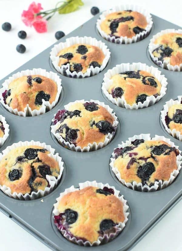 Keto blueberry muffins coconut flour
