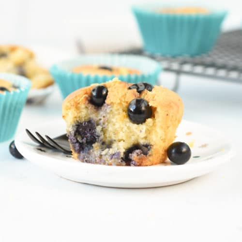 Keto blueberry muffins with almond flour