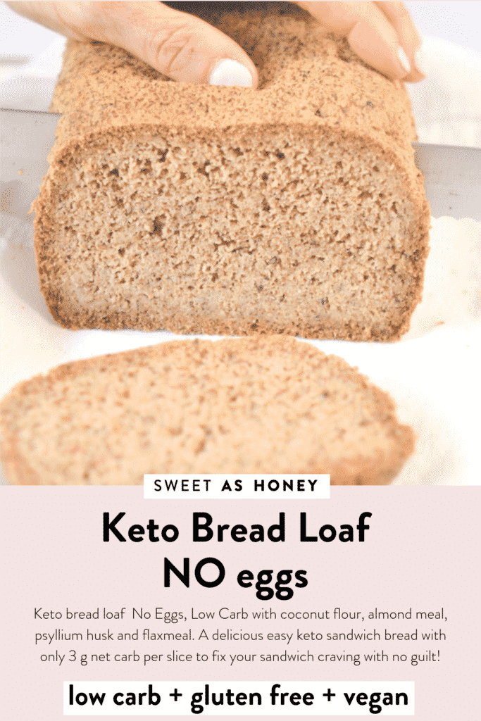 Keto Bread Loaf No Eggs Low Carb Vegan