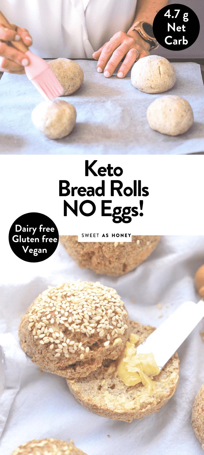 KETO BREAD ROLLS NO EGGS Vegan easy, healthy soft #keto #thanksgiving #baking #sides #healthy #lowcarb #makeahead #traditional #unique #best #thanksgivingside #breadrolls #ketobread #lowcarbbread #glutenfree #veganbread #veganketo