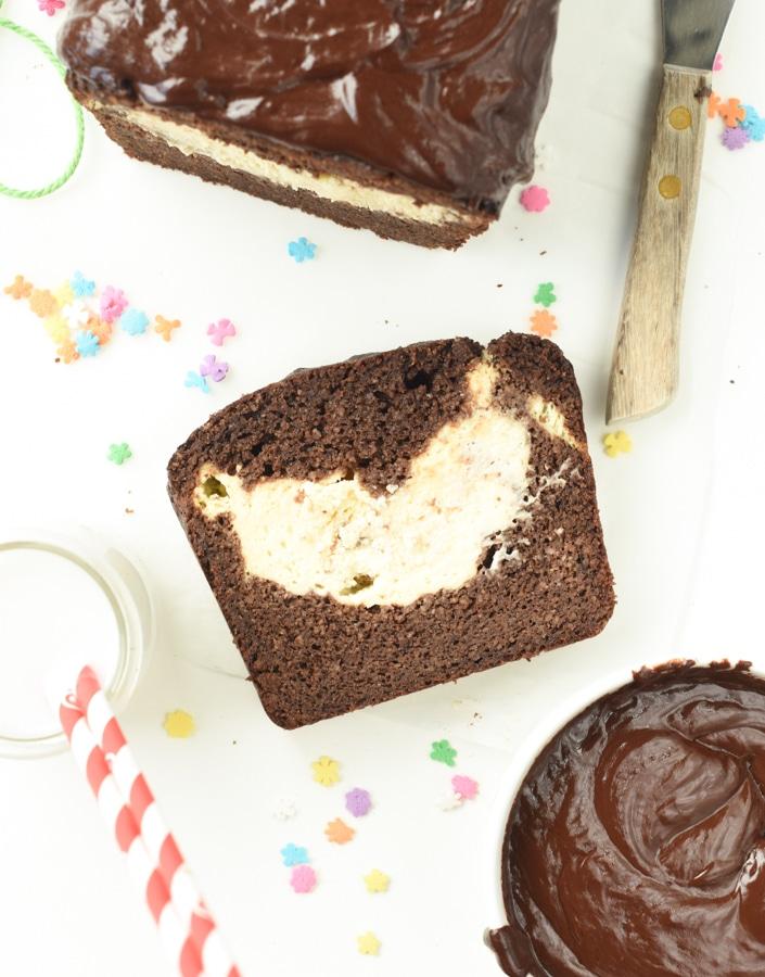 Keto chocolate cream cheese pound cake