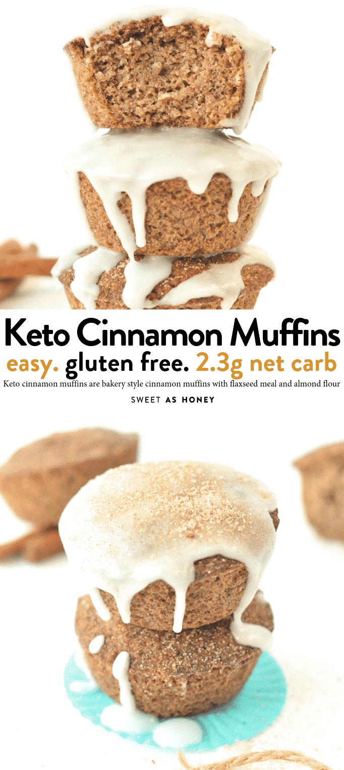 Keto cinnamon muffins