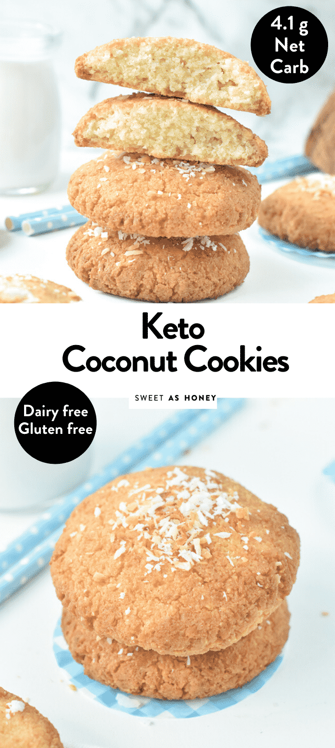 KETO COCONUT COOKIES easy 5 ingredients #ketocookies #keto #cookies #lowcarbcookies #lowcarb #coconut #coconutcookies #almondflour #easy #sugarfree #glutenfree #5ingredients