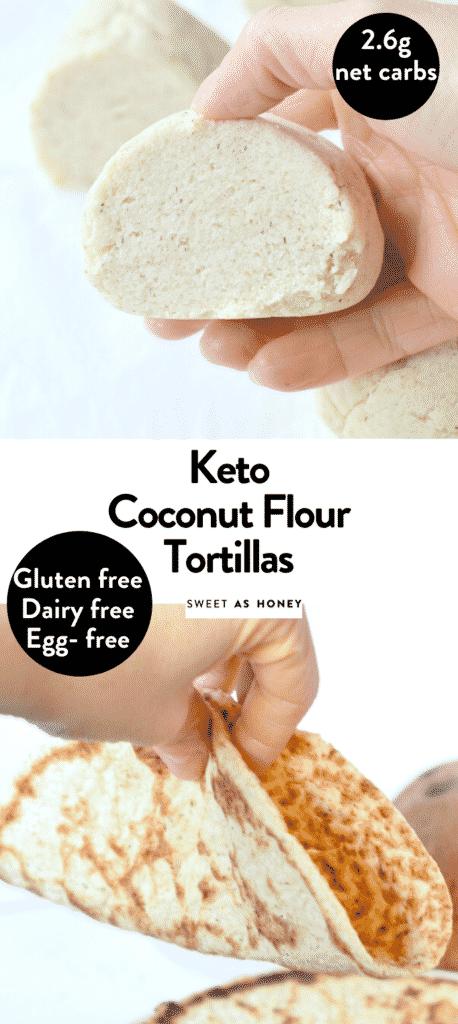 Keto coconut flour tortillas