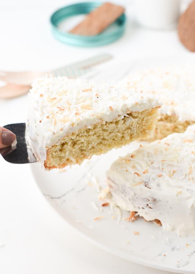 Keto coconut four cake
