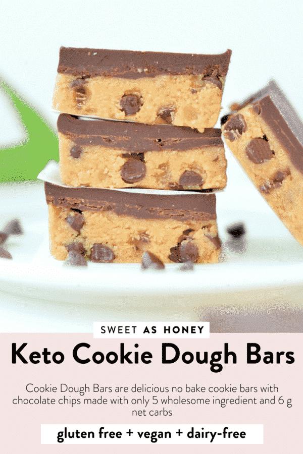 Keto Cookie dough bars
