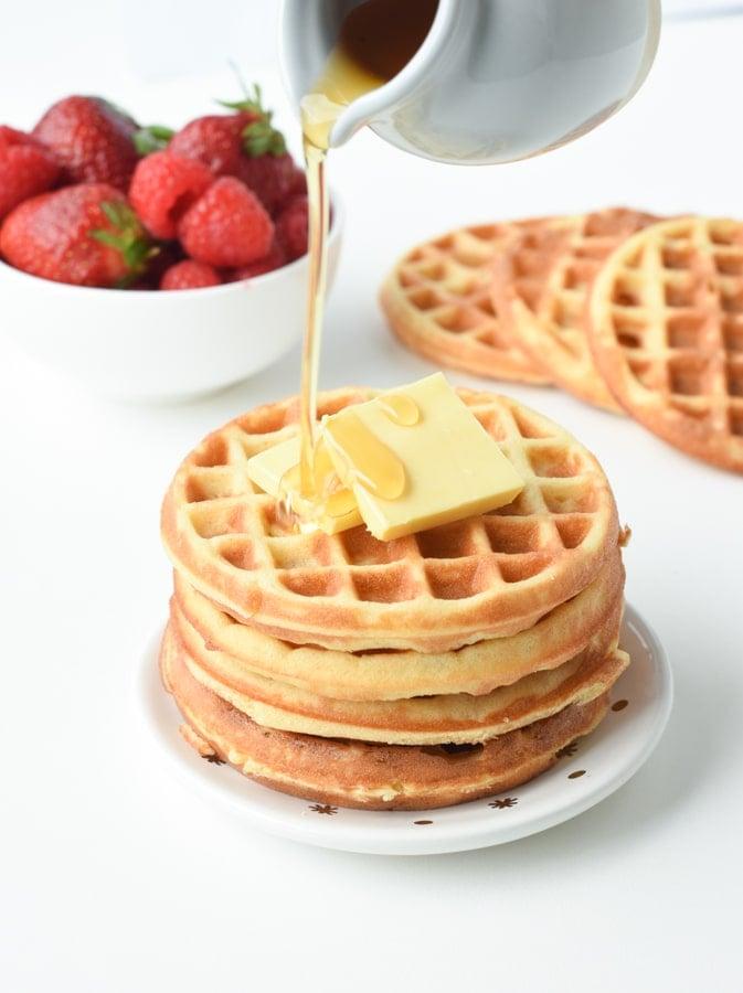 Keto cream cheese waffles