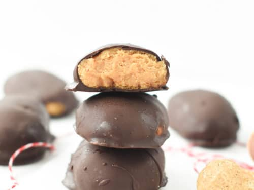 Keto easter eggs with peanut butter