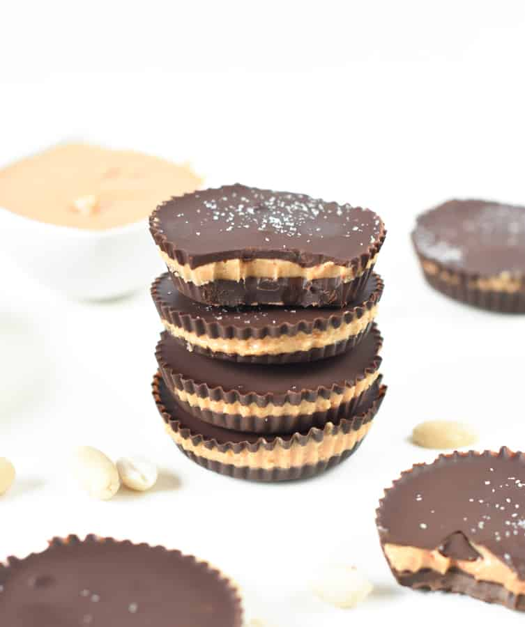 Keto friendly chocolate peanut butter cups