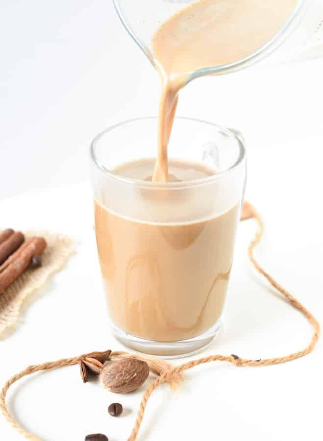 Keto friendly pumpkin spice latte