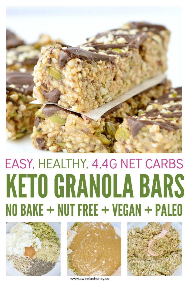 Keto granola bars hemp seeds bars low carb