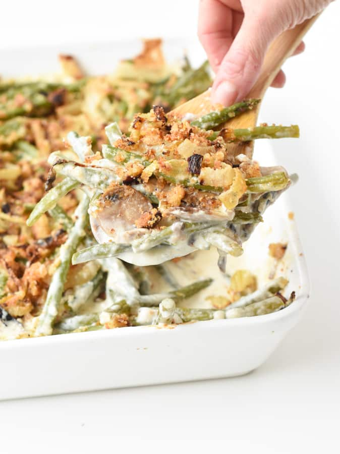 Keto green bean casserole with cream cheese