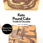 KETO POUND CAKE Vanilla Chocolate Flavor #ketopoundcake #ketocake #poundcake #keto #marblecake #glutenfree #paleo #dairyfree #chocolatecake #vanillacake #loaf #ketoloaf