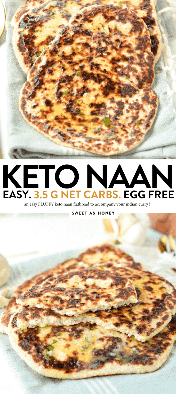 KETO NAAN BREAD 3.5 g net carbs #ketonaan #ketobread #ketorecipes #keto #lowcarb #atkins #glutenfree #grainfree #noeggs #eggfree #ketovegan #ketorecipes