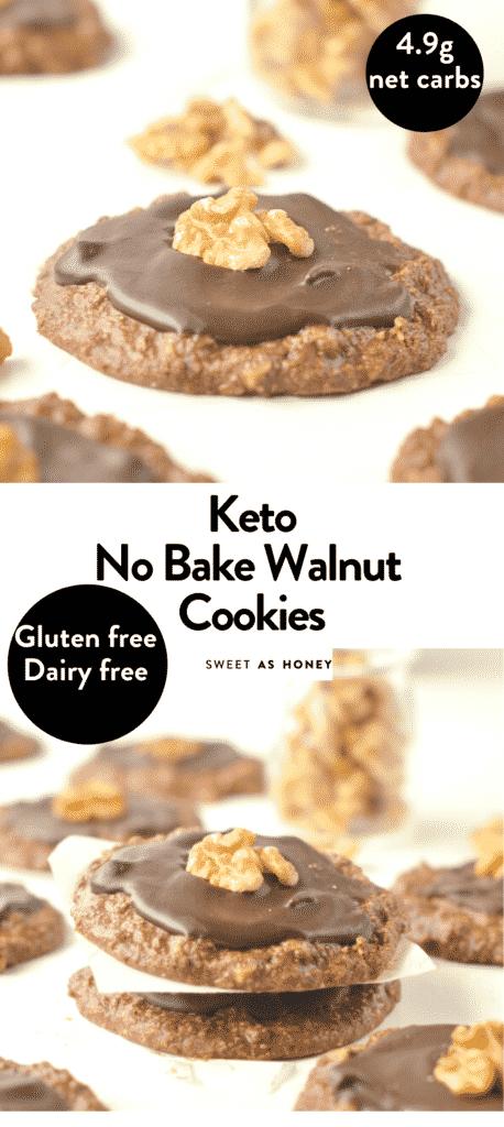 Keto no bake chocolate cookies