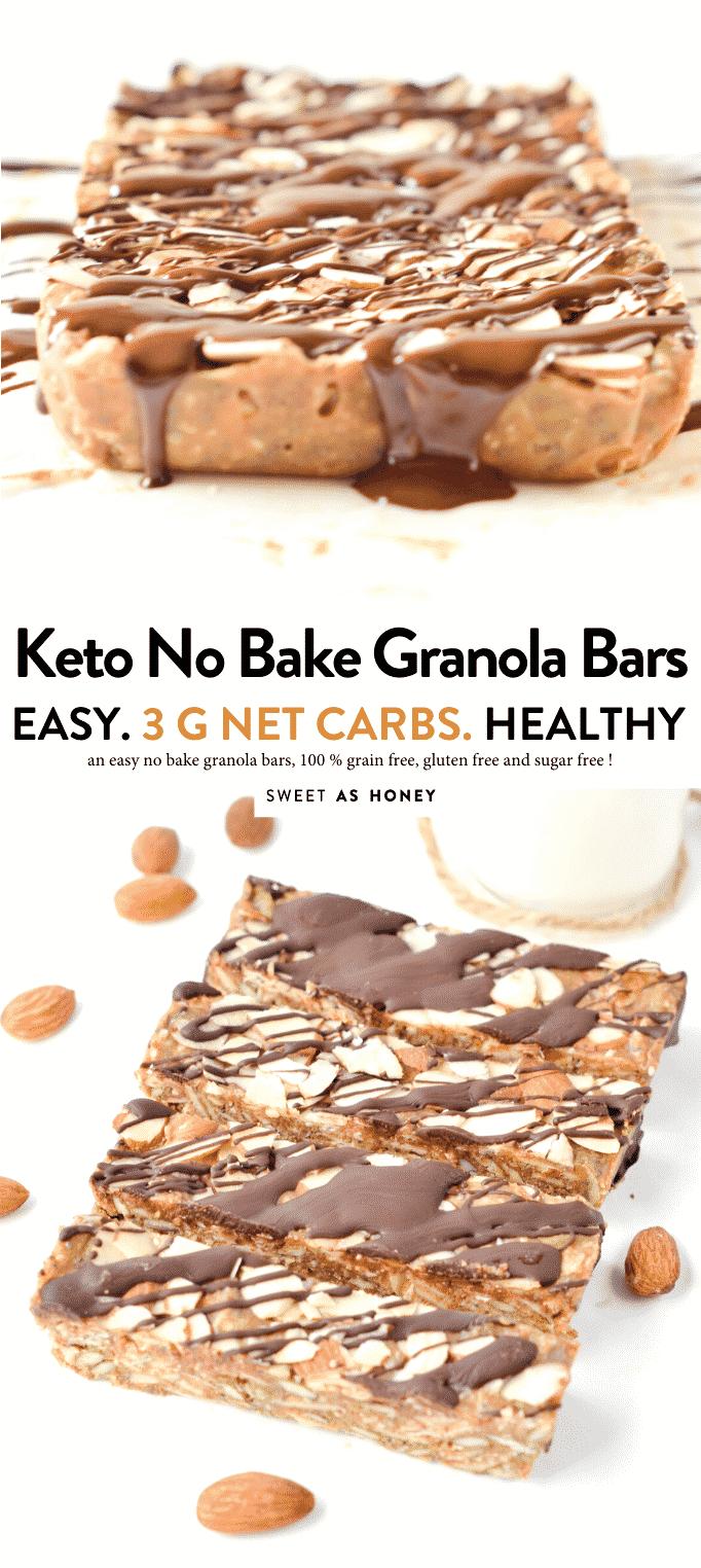 "KETO GRANOLA BARS easy chewy no bake breakfast bars or healthy snacks (2.8g net carbs) 100 % Low Carb + Vegan + Gluten free. #lowcarbfoods #lowcarbrecipes #lowcarbdiet #lowcarbbreakfast #lowcarbporridge #ketorecipes #ketoforbeginners #ketodiet #ketobreakfast #ketones #ketosis"""