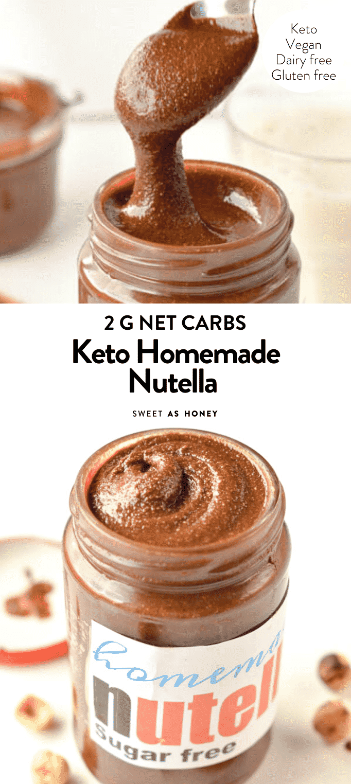 HOMEMADE KETO NUTELLA #sugarfree #keto #lowcarb #nutella #snacks #spread #healthy