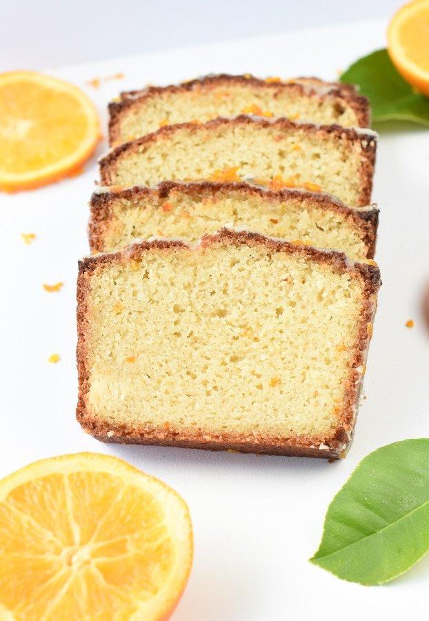 Keto orange pound cake