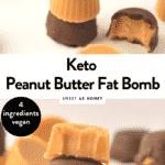 KETO PEANUT BUTTER FAT BOMB 1.4 g net carb, no dairy, no sugar #ketofatbomb #fatbomb #ketosnacks #peanutbutter #fatbomb #truffles #keto #lowcarb #glutenfree #dairyfree #healthy #sugarfree #snacks
