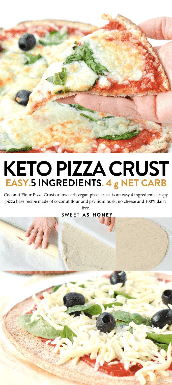 KETO PIZZA CRUST COCONUT FLOUR