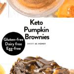 Keto pumpkin brownies Vegan Egg free