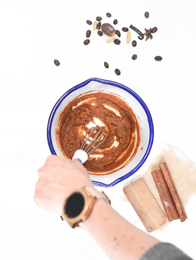 Keto pumpkin latte cook spices