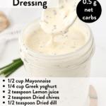 Keto ranch salad dressing