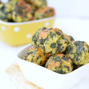 KETO SPINACH BALLS 1 g net carb per serve easy, healthy, gluten free #keto #spinach #spinachballs #glutenfree #appetizers #lowcarb #cheesy