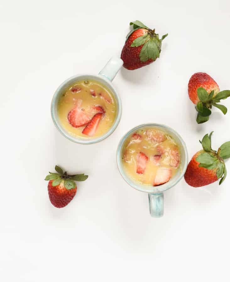 Keto strawberry mug cake recipe