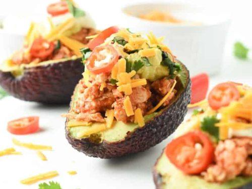 Keto stuffed avocados