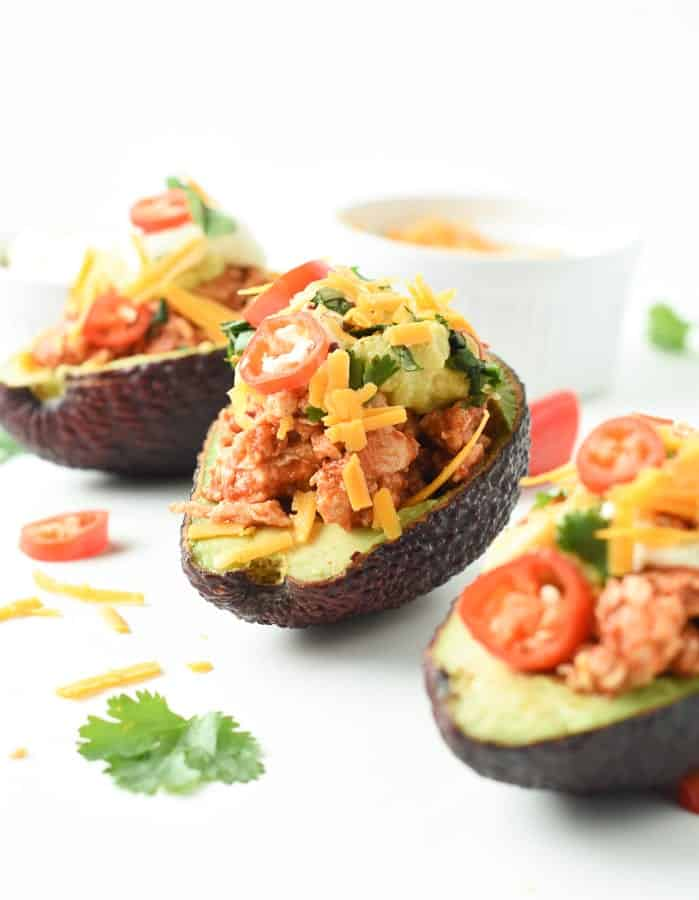Keto stuffed avocados