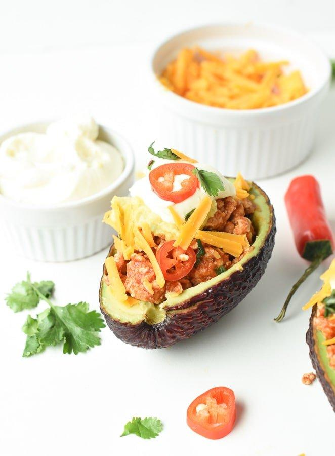 Keto taco stuffed avocado