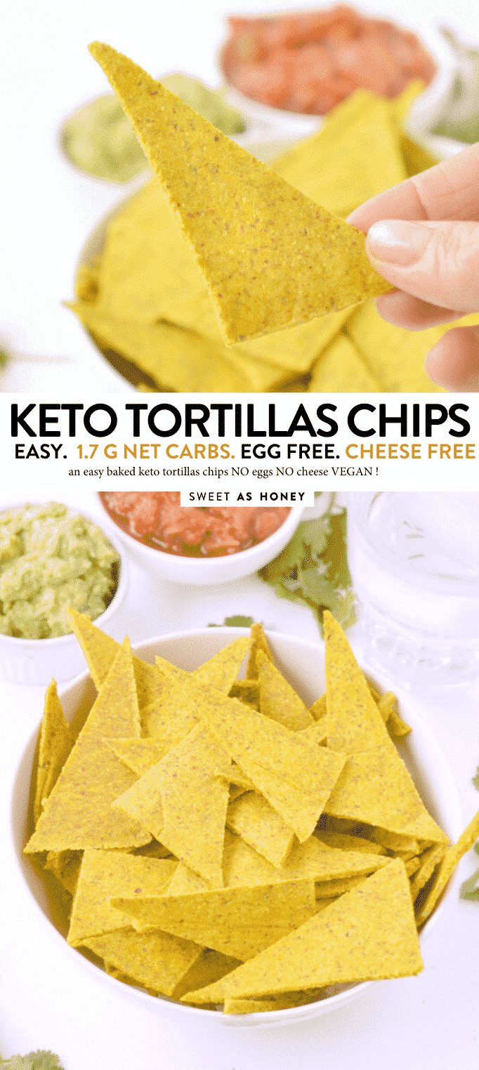 KETO BAKED TORTILLAS CHIPS grain free, low carb #keto #tortillaschips #baked #homemade #healthy #easy #grainfree #paleo #almondflour #vegan